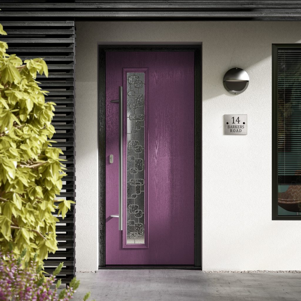 purple front door